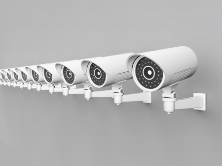 3d Security Camera or CCTV  photo