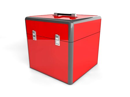 3d red box  Stock Photo - 21585069