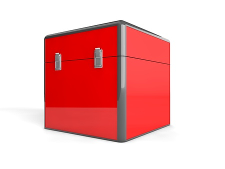 3d red box Stock Photo - 21585070