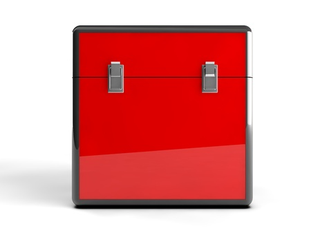3d red box  Stock Photo - 21585071