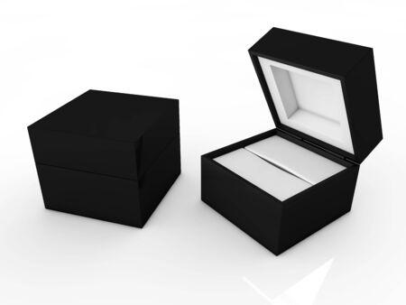 jewel box isolated on white background
