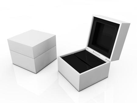 blank boxes isolated on white background  photo