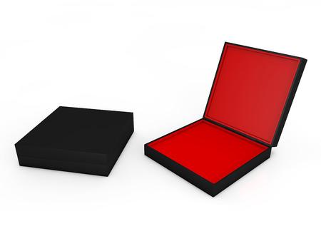 blank black boxes isolated on white background  photo