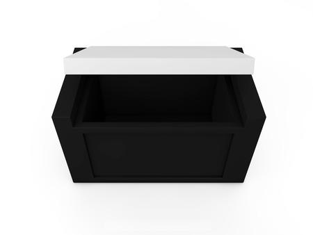 matchbox: blank black boxes isolated on white background  Stock Photo