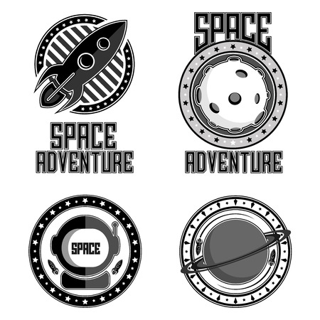 Space logo icon illustration. Illustration