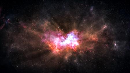 Universo lleno de estrellas, nebulosa del espacio profundo y galaxia.