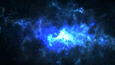 Universo lleno de estrellas, nebulosa del espacio profundo y galaxia. Foto de archivo