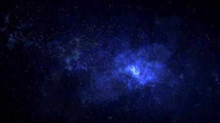 Wszechświat wypełniony gwiazdami, mgławicą kosmiczną i galaktyką