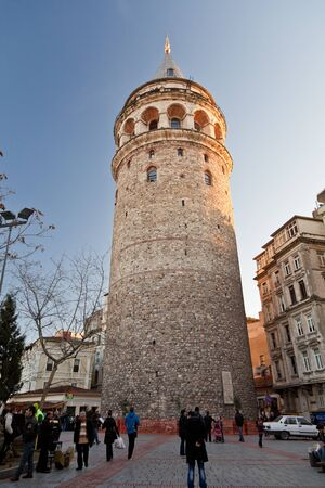 View of the Galatian Tower. Istanbul, Turkey