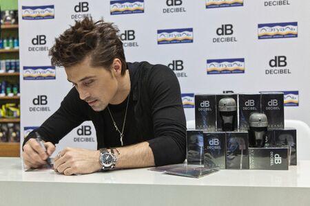 Dima Bilan - Autograph session from Dima Bilan and Azzaro DECIBEL in honor of the 15th anniversary of Letoile. Nov 14,2012, Moscow, Russia