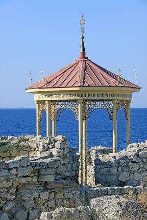 Remains of the ancient city of Tauric Chersonesos in Sevastopol, August 2009. Crimea Ukraine Stock Photo