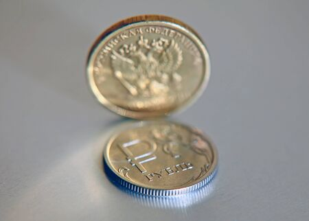 The Russian rubles. Coins of Russia, one rubles Фото со стока