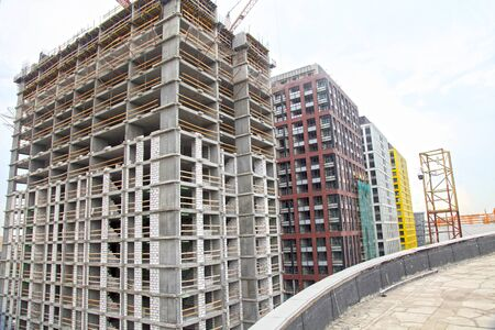 Construction, building, apartment building and office center.