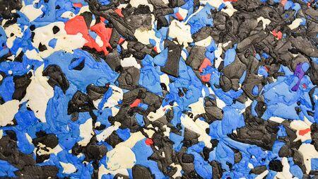 Color plasticine. Color plasticine background. Photo of multicolor plasticine mixed texture. Colorful abstract piece of mix plasticine 写真素材