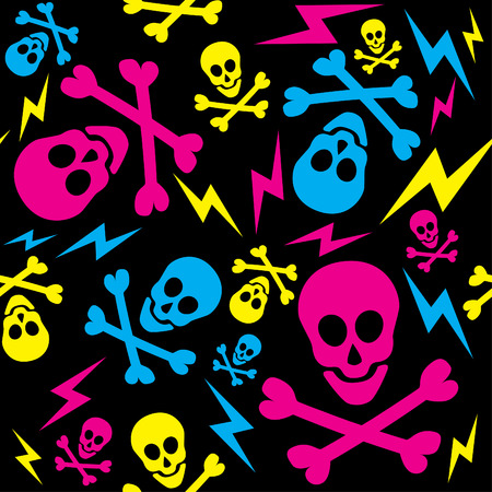 eighties: Seamless Skull Pattern