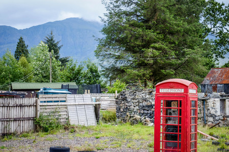 phonebox: Traditional british phonebox in Scotland Stock Photo