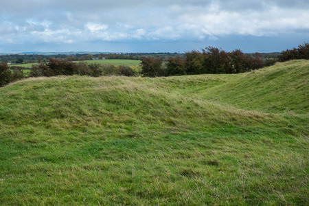co  meath: Hilly terrain at ancient historic site in the Irish midlands