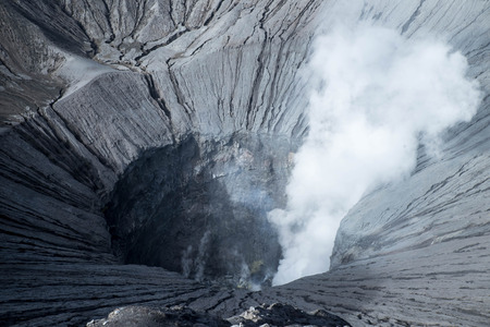 active volcano: View into active volcano in Java, Indonesia