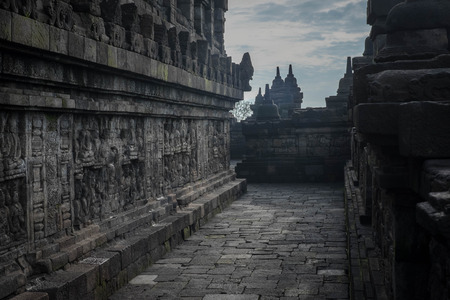 Level of historic Buddhist temple in Indonesia photo
