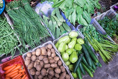 Vegetables at a market stall, Ubud, Bali photo
