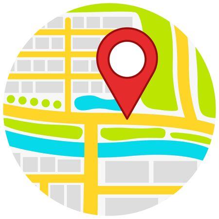 Map button marker
