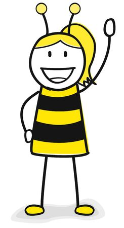 Bee costume girl