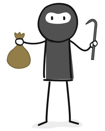 Thief figure 向量圖像