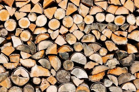 fire wood pile Stock fotó