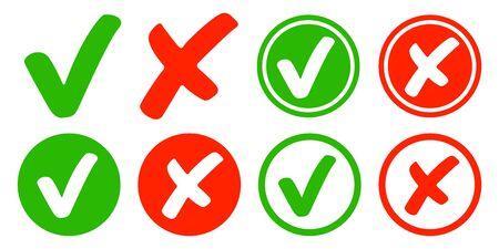Check and cross set modern