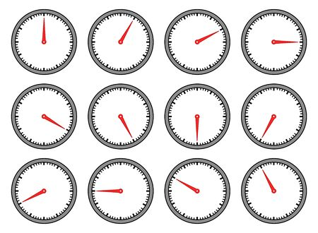 Clock set Ilustração