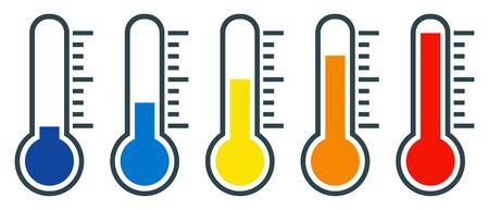 Different thermometer Ilustrace