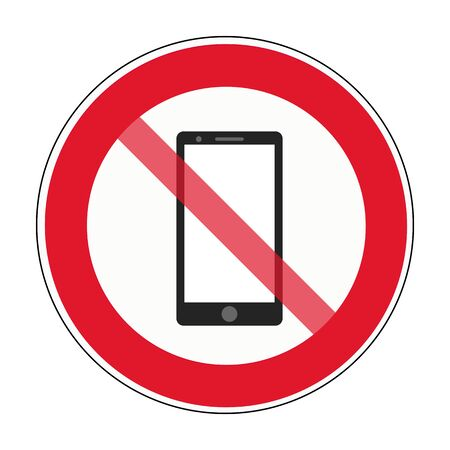 No smartphone allowed sign