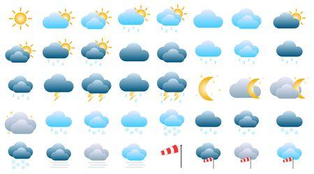 3d weather icon set