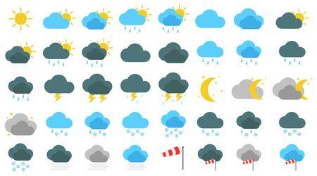 Weather icon set simple