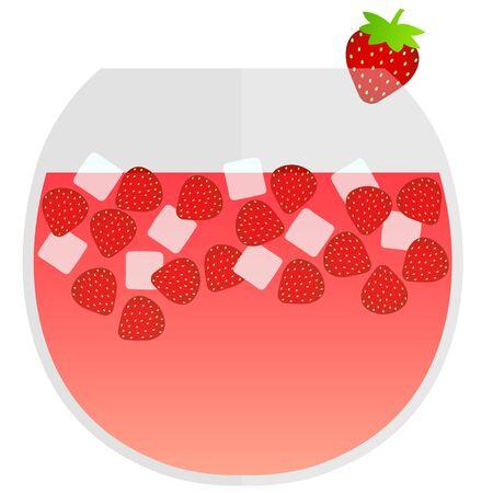 strawberry punch Stock Illustratie