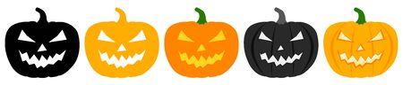 Halloween pumpkin set Иллюстрация