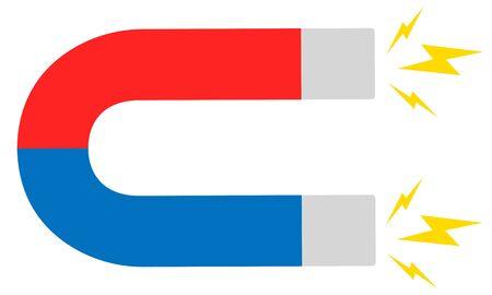 Magnet flat icon Ilustracja