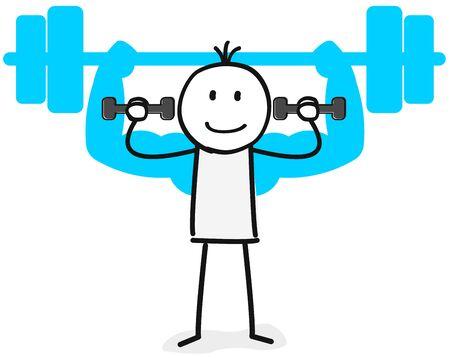confident weightlifter
