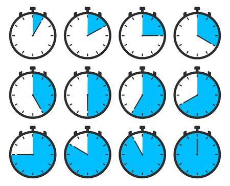 Clock vector set Illustration