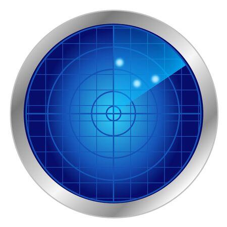 Blue radar vector 版權商用圖片 - 143292697