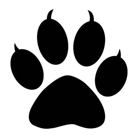 Wild animal paw Illustration