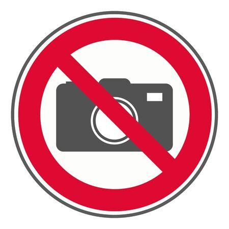 No camera sign Illustration