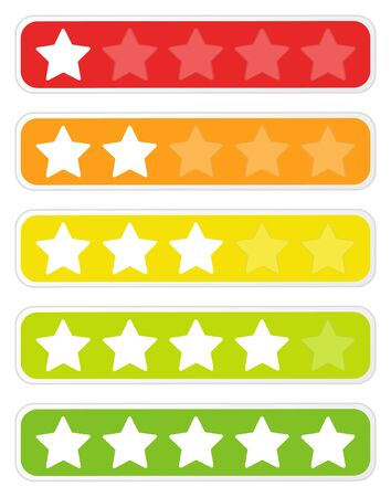 Colored star rating set