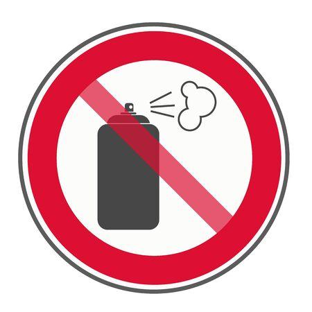 No spray sign