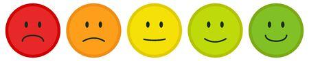 Smiley rating set