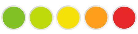Empty rating button set Vectores