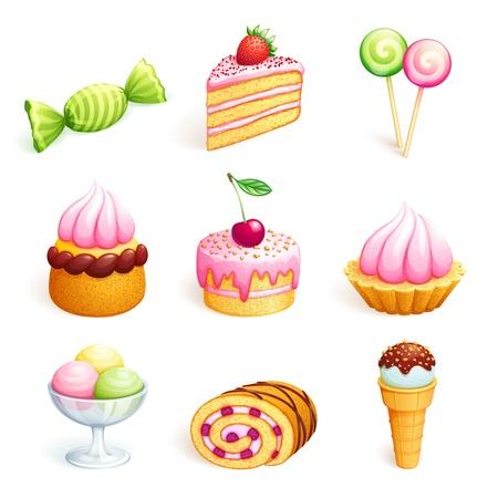 お菓子のセット 写真素材