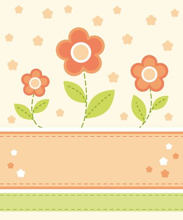 Flower card design Stock Vector - 10928213