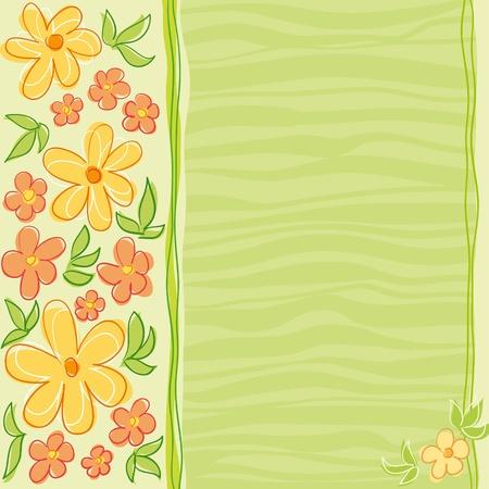 Bloemen kaart ontwerp.