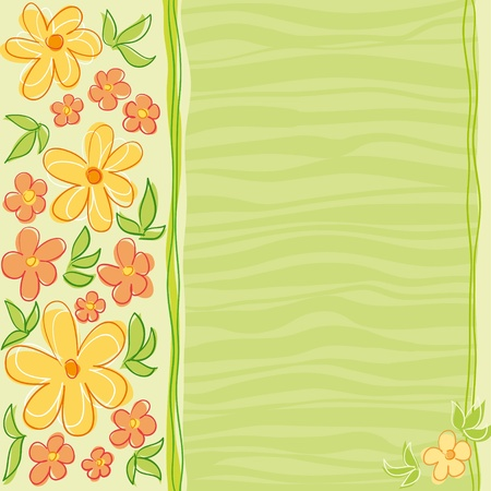 Flowers card design.  Vector